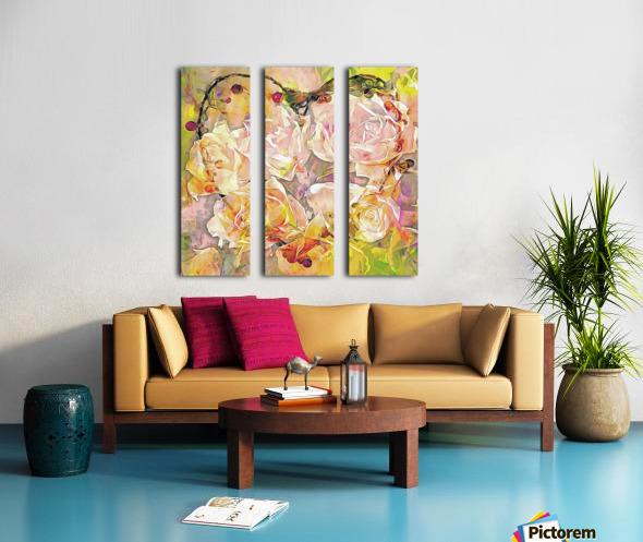 I Will Love You Always Split Canvas print