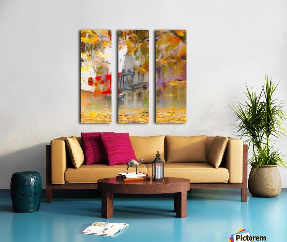Maisons victoriennes de Montréal Split Canvas print