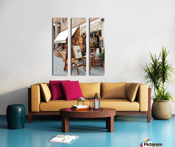 Delicatessens Castiglione del Lago Split Canvas print