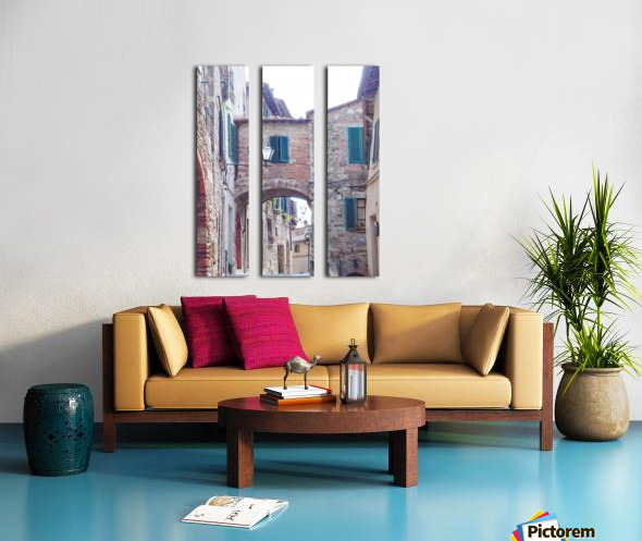 Alleyway Cetona Tuscany Split Canvas print