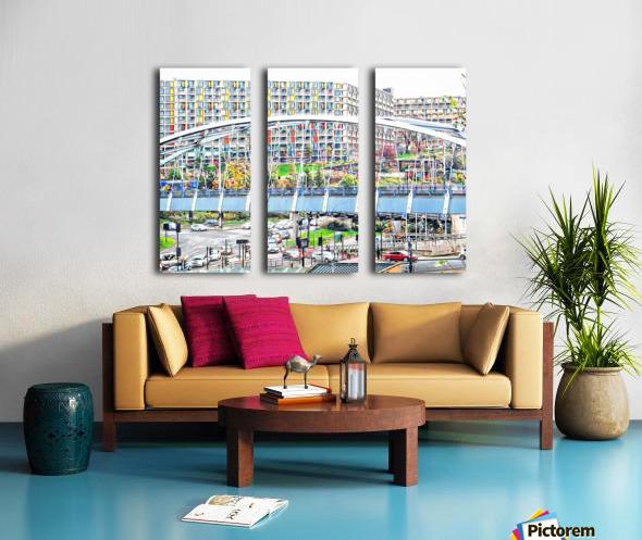 Park Square Bridge Sheffield Split Canvas print