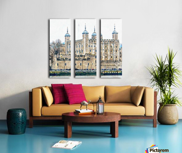 Tower of London 2 Split Canvas print