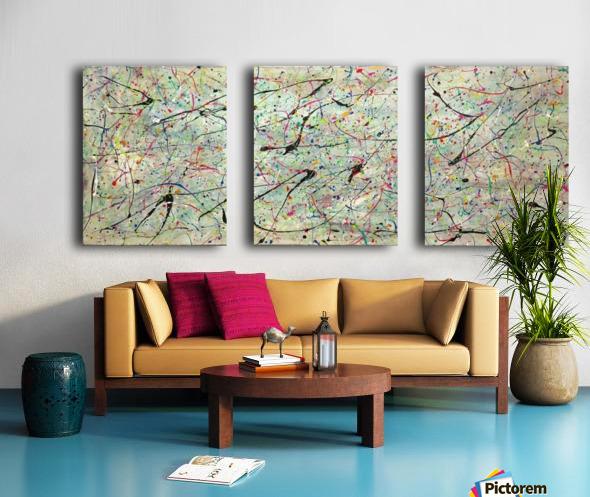 ABSTRACTION SPACIALE Split Canvas print