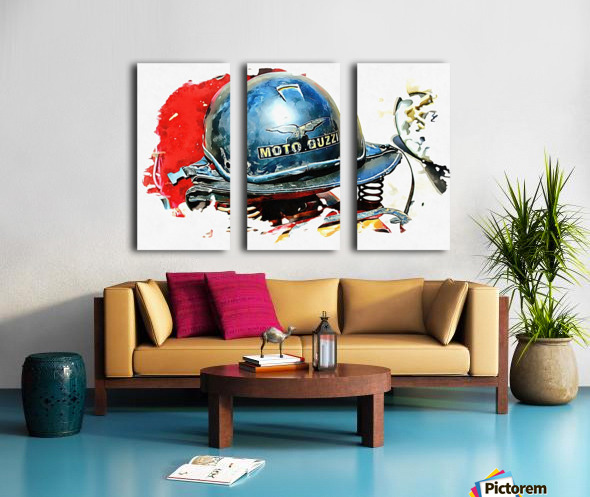 Moto Guzzi Split Canvas print