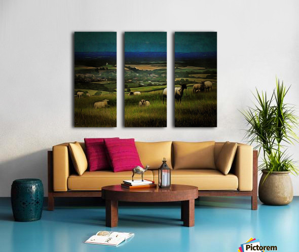 South Downs View Split Canvas print