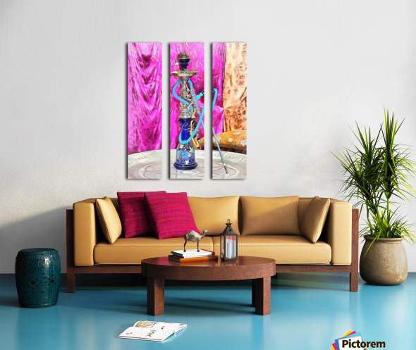 Exotic Oriental Hookah Pipe Split Canvas print