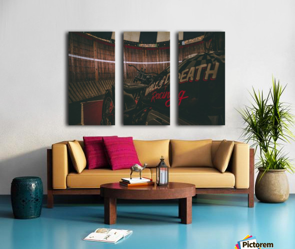 Wall of death Harley Davidson Split Canvas print