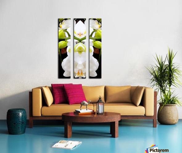 White Orchid Pattern 4 Split Canvas print