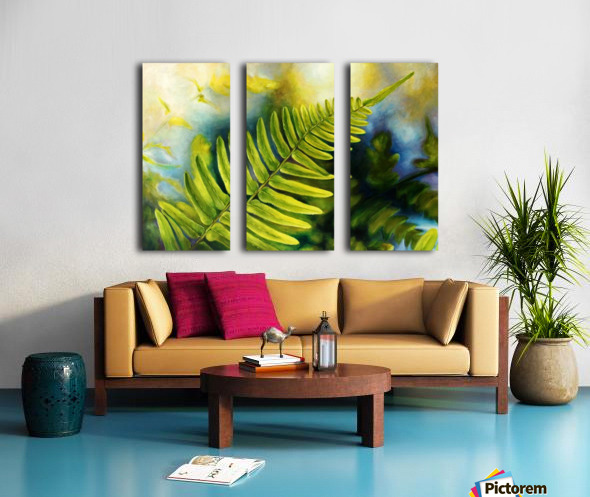 Fern Night Split Canvas print