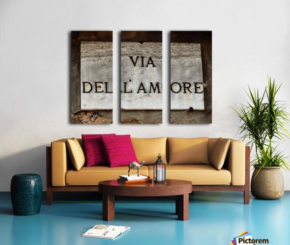 Via DellAmore Split Canvas print