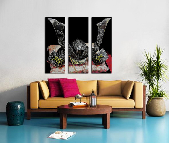 Samurai Helmet  Split Canvas print