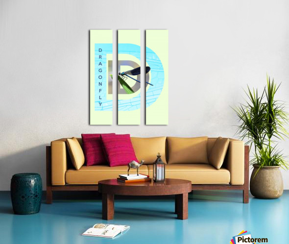 Dragonfly Split Canvas print