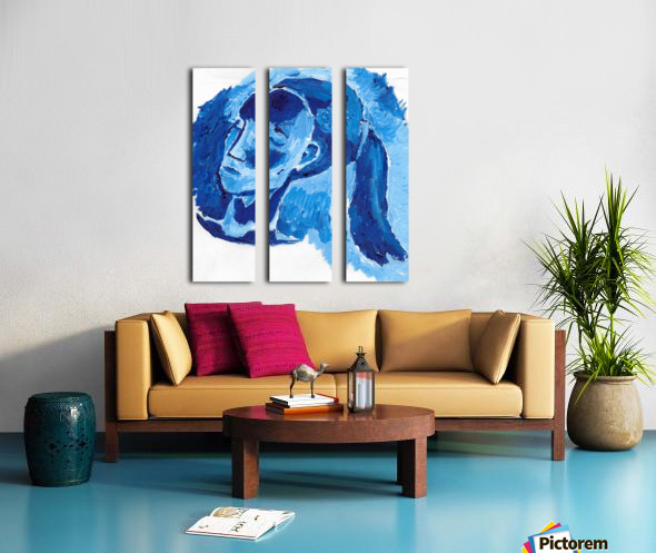 Blue Girl Split Canvas print