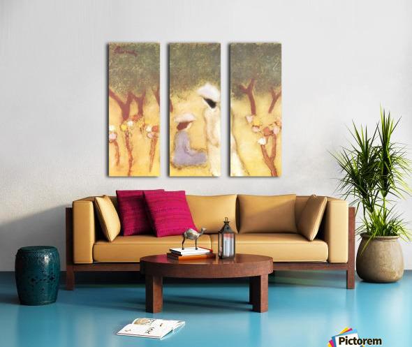 Under the Hollyhocks by Joseph Rippl-Ronai Split Canvas print