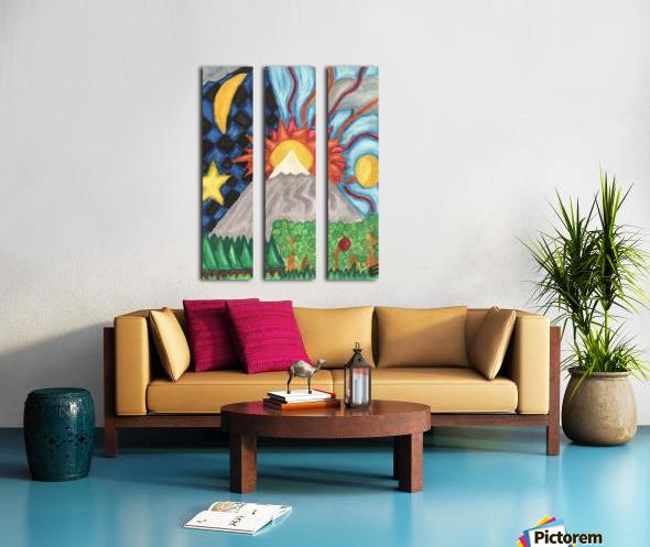 Beautiful World Split Canvas print