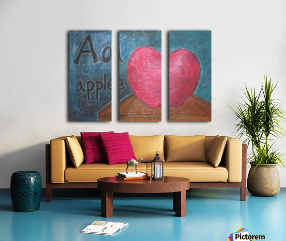 A is for Apple Split Canvas print
