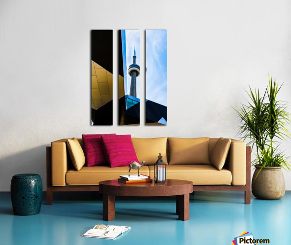 A tower in the sky Split Canvas print