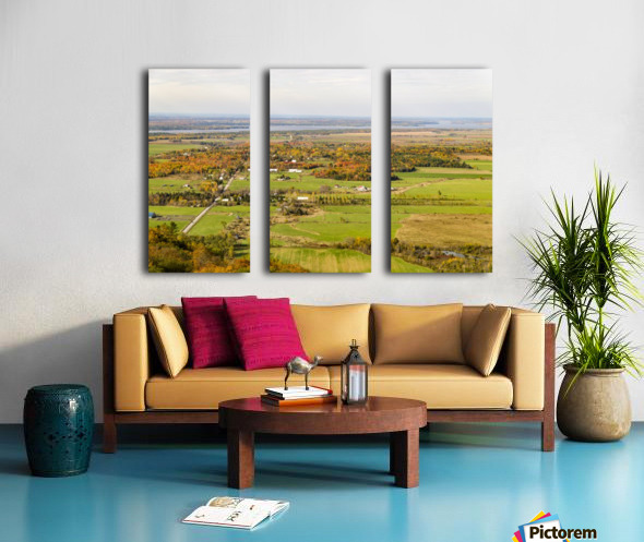 View of Ottawa Valley in Autumn18 Split Canvas print