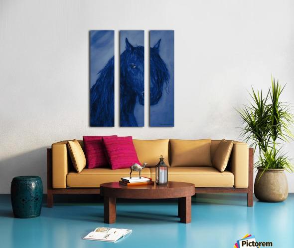 Blue Heart Split Canvas print
