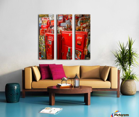 Coca Cola - Montreal Split Canvas print