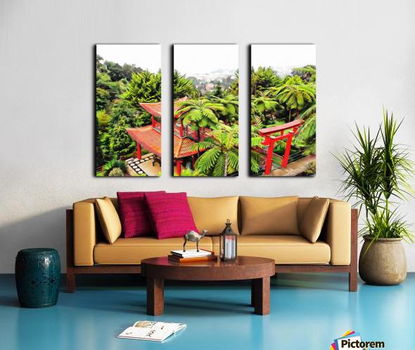 Oriental Gardens Madeira 4 Split Canvas print