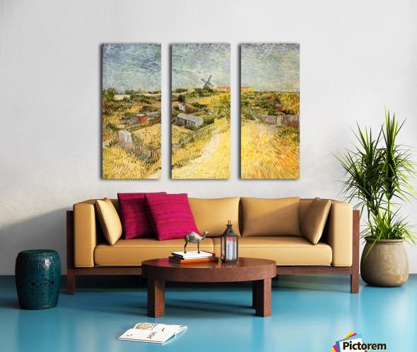 Vegetable Gardens in Montmartre by Van Gogh Split Canvas print
