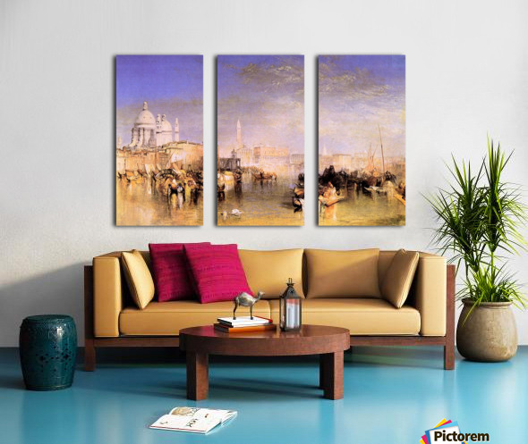 Venice from the canal by Joseph Mallord Turner Split Canvas print