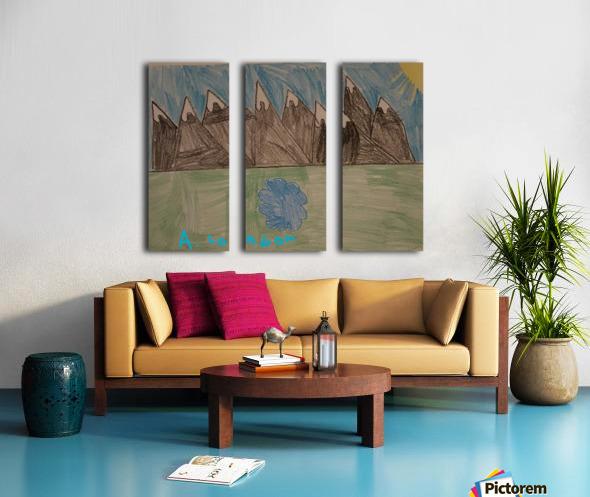 Mountain Peak Split Canvas print