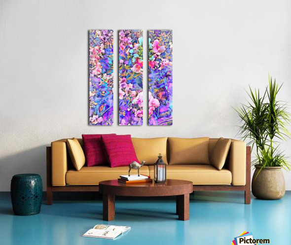 Pink and Blue Fusion Split Canvas print