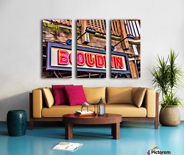 Boudin Bakery Sign Split Canvas print