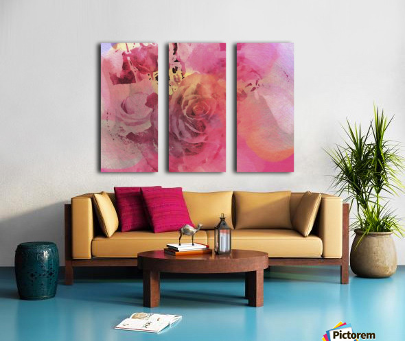 June Rose Split Canvas print