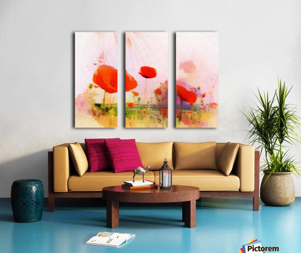 Poppies In Impression Split Canvas print