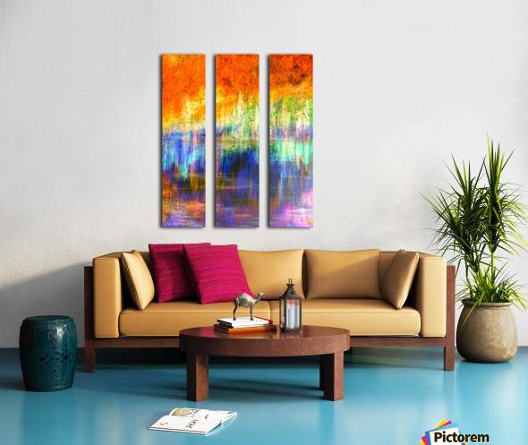 Lake Sunset Split Canvas print