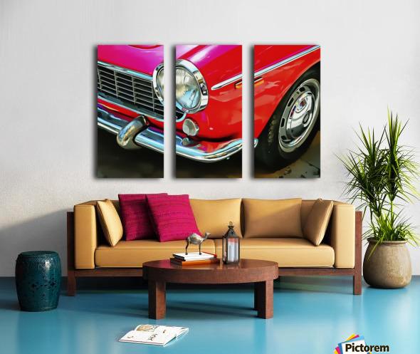 Fiat 1500 Cabriolet Red Front Detail Split Canvas print