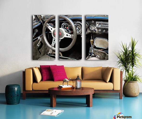 MG B Glance At Interior Split Canvas print
