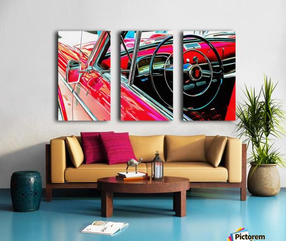 Fiat 1100 D Through The Window Split Canvas print