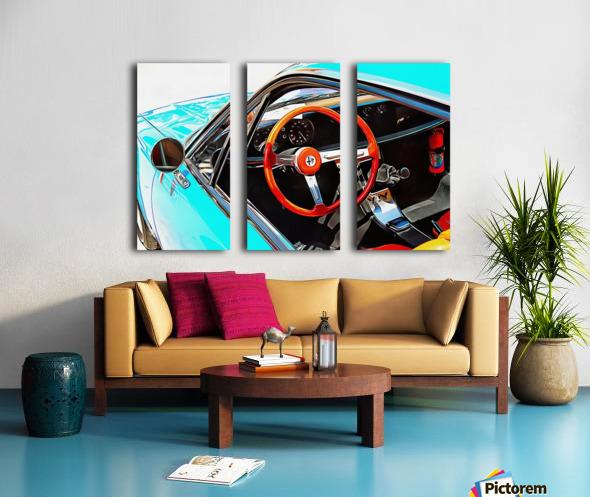 Alfa Romeo 1600Z Through The Window Split Canvas print