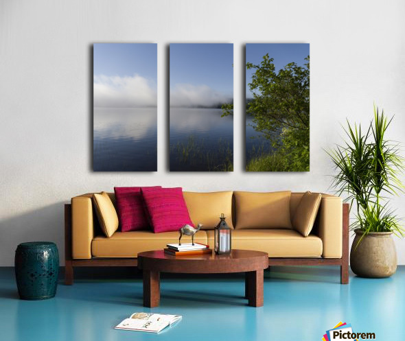 Early Morning Fog Bank Split Canvas print
