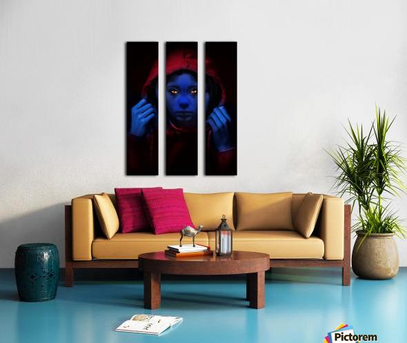Blue Indigo Split Canvas print