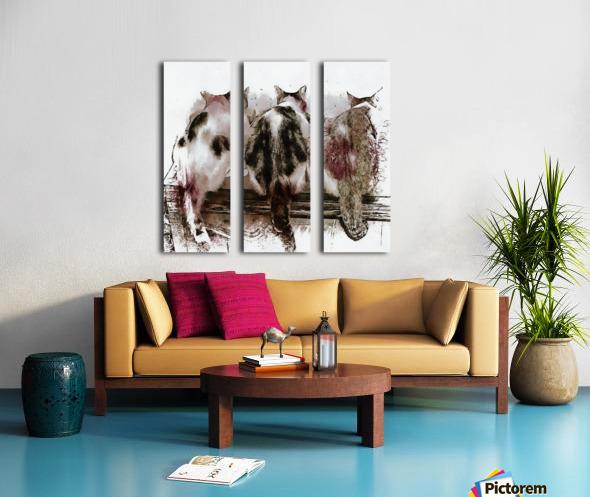 Feline Chow Time Split Canvas print