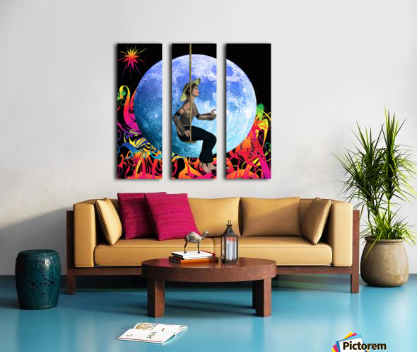 Moon Dream Split Canvas print