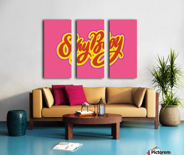 SHY BOY Split Canvas print