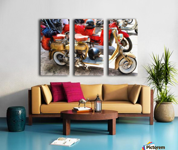 Make Mine a Lambretta Split Canvas print