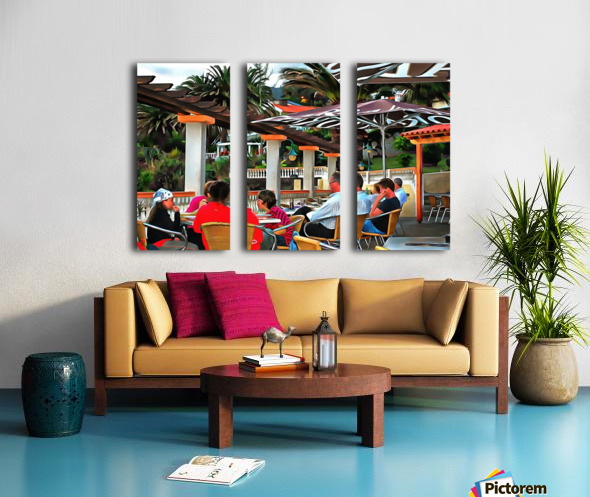 Bar In Funchal Madeira Split Canvas print