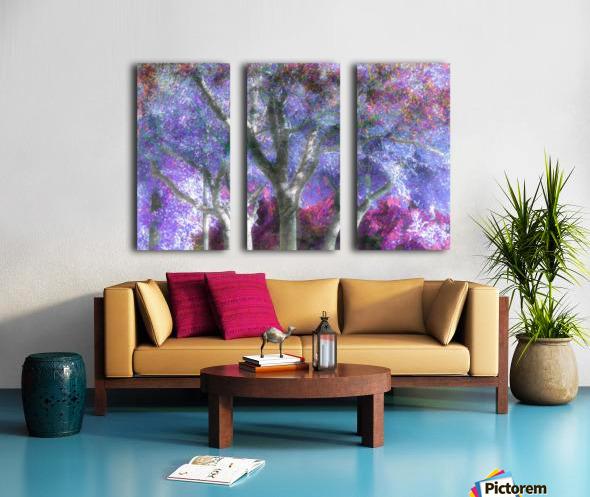 Muted Treetops Split Canvas print