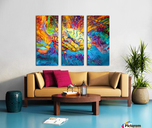 Psychedelic Brain Split Canvas print