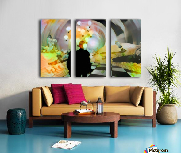 Man in Surreal Desert Split Canvas print