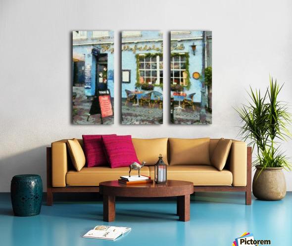 Blue Cafe Copenhagen Split Canvas print
