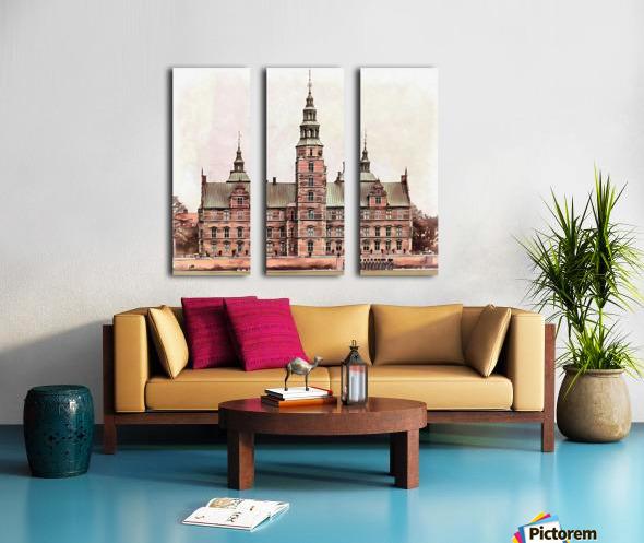Rosenborg Castle Copenhagen Split Canvas print