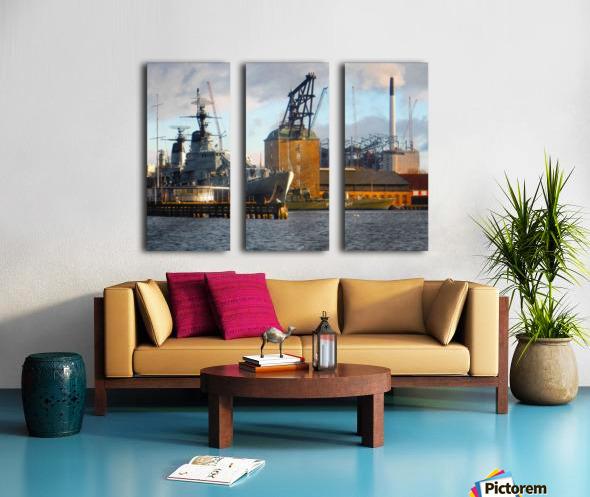 Ships at Holmen Split Canvas print